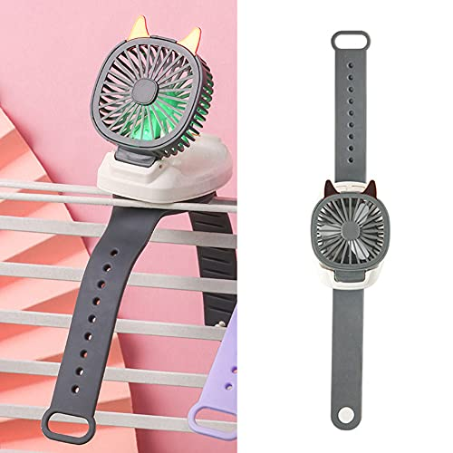 Ventilador de muñeca para niños, mini ventilador de escritorio plegable flexible y plegable, ventilador de juguete para niños, ventilador de muñeca portátil desmontable para niños/niños