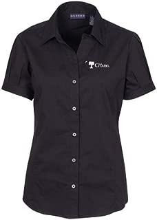 NCAA Citadel Bulldogs Women's Solid Cap Sleeve Button Front Blouse