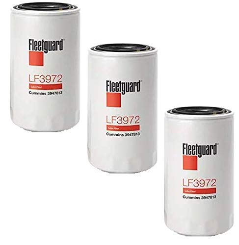LF3972 Fleetguard Lube, Spin-On (Pack of 3), Replaces Baldwin BT7349, Donaldson P558615, Chrysler 5083285AA