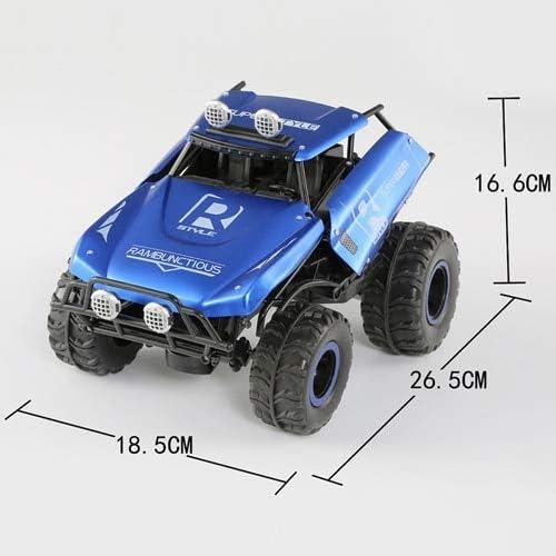 DishyKooker Trick Deformatio 1 16 Alu-Autos Vierradantrieb Funkfernbedienung Fahrzeug Licht Truck RC LKW Off-Road Spielzeug für Kinder blau