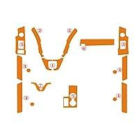 3D/5Dカーボンファイバーカーステッカーインテリアセントラルコントロールパネルドアハンドルデカール ホンダCRV2007-2011用