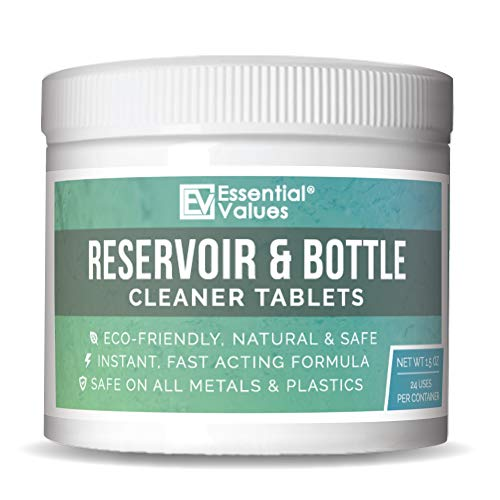 24 Pack Water Bottle Cleaner | Made in USA, Water Reservoir Cleaning Tablets - Great for Bottle Cleaning and Quickly Removes Stubborn Stains & Odors, Perfect for Hydration Bladders, Water Bottles