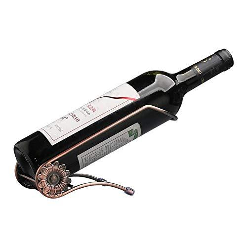 Rotweinständer Einfaches schmiedeeisernes Gestell Home Weinflaschenschrank Rotweinhalterung Regal für Bar Weinkeller Küche-EIN