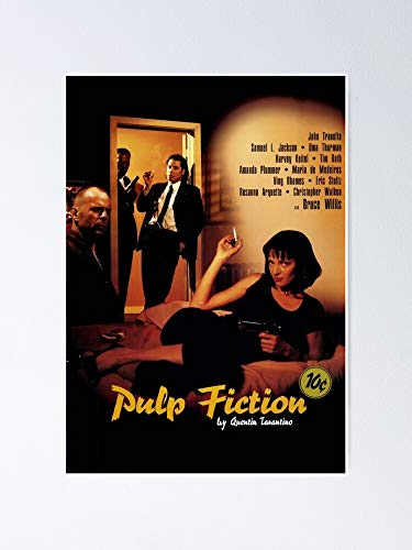 AZSTEEL Pulp Fiction Poster Vintage No Frame, Best Gift for Family and Your Friends 11.7x16.5 Inch