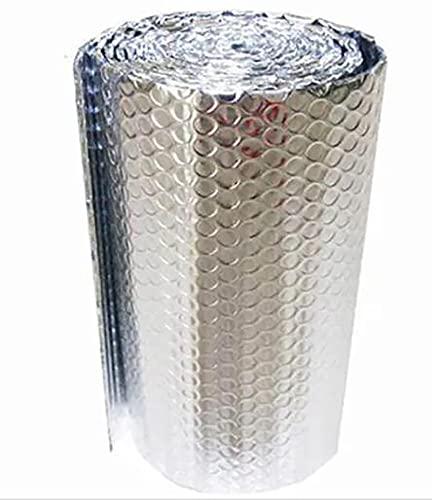 Rollo Aislante Termico, Aislamiento Termico Aluminio Reflexivo, Rollo Aislante Térmico De Aluminio, Aislamiento Térmico Multicapa Para Buhardilla Desván Paredes Caravanas Y Átic(Size:1x4m/3.2x13.1ft)