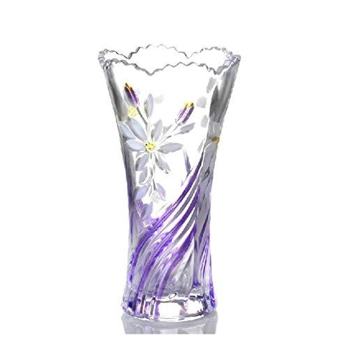 ZXL Floreros Creativo Pastoral Viento Cristal Transparente Flor Enchufe Hidrófito Bambú Planta Flores Insertado