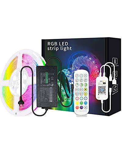 LED Luces De Tira 65.6FT 5050 WiFi RGB Coloridas Luces De Tira Inteligentes Música De Sincronización De Música Cambiando Las Luces LED Impermeables para El Dormitorio, El Hogar, La Cocina, La Fiesta