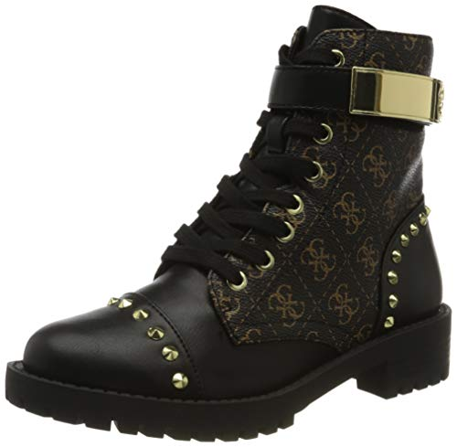 Guess Damen Haleigha Logo Low Boot Stiefeletten, Multicolore Black Multi, 38 EU