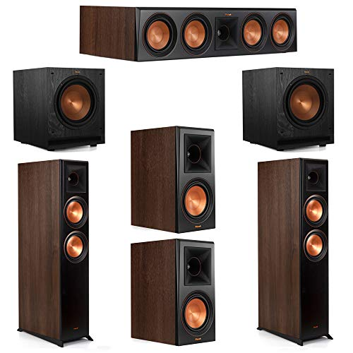 Find Discount Klipsch 5.2 Walnut System 2 RP-6000F Floorstanding Speakers, 1 Klipsch RP-404C Center ...