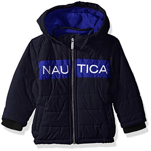 Nautica Helm Bubble with Storm Cuffs, Arthur Azul marino, 12 meses