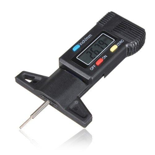 FamilyMall(TM)Digital Tiefenmesser Messchieber Profiltiefenmesser LCD Reifen Profilmesser