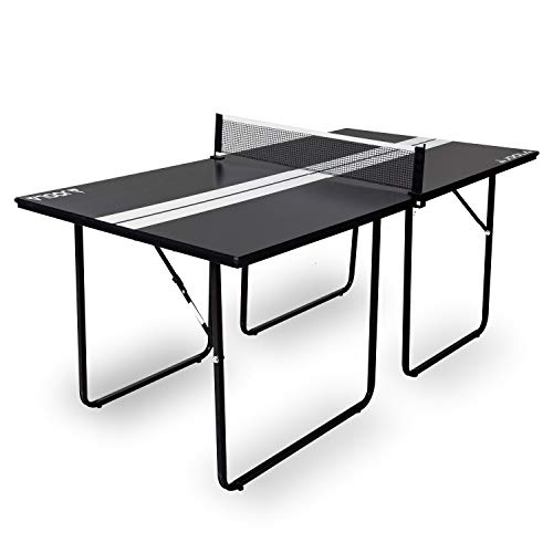 JOOLA Midsize Compact Table Tennis Table Great for Small Spaces and Apartments – Multi-Use Free Standing Table - Compact Storage Fits in Most Closets - Net Set Included - No Assembly Required