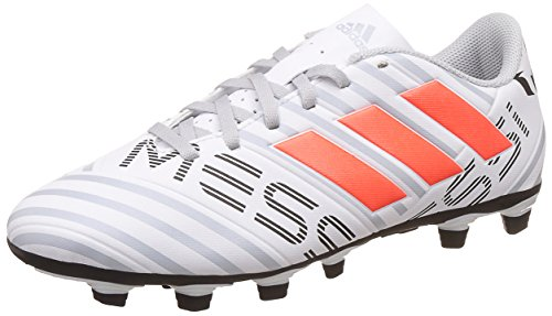 adidas Nemeziz Messi 74 FxG, Scarpe per Allenamento Calcio Uomo, Multicolore (Ftwr White/Solar Orange/Clear Grey), 40 2/3 EU