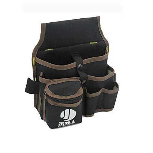 1 x Cinturón portaherramientas de tela Oxford, bolsa de herramientas con múltiples...