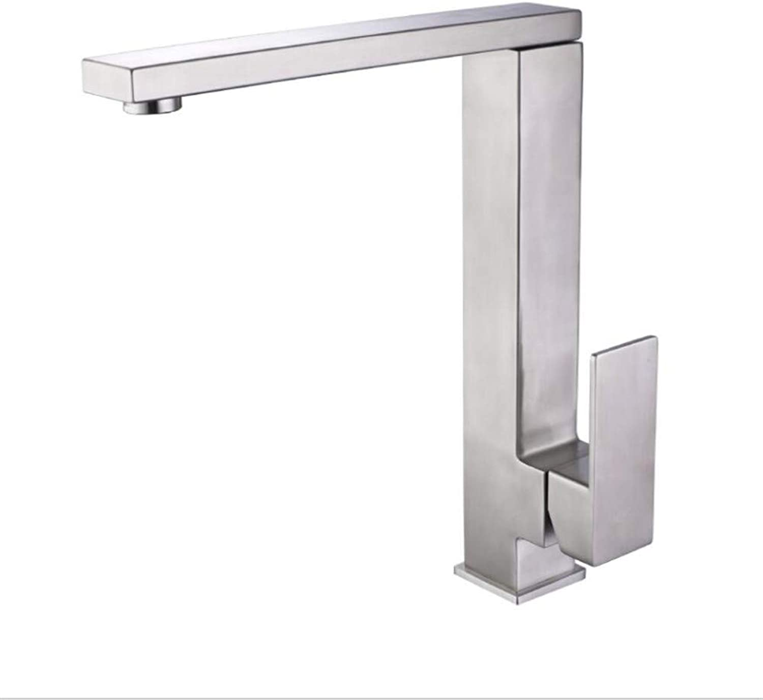 Modernsltbathroom Sink Basin Lever Mixer Tap Cool and Hot Water Faucet Kitchen Square Faucet 304 Vegetable Basin Faucet Hot and Cold