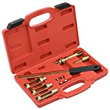 LONGMHKO Set de Herramientas compresor de muelles de válvula 8 Piezas Diámetro de la Pieza de presión: 24 mm, 30 mm, 35 mm