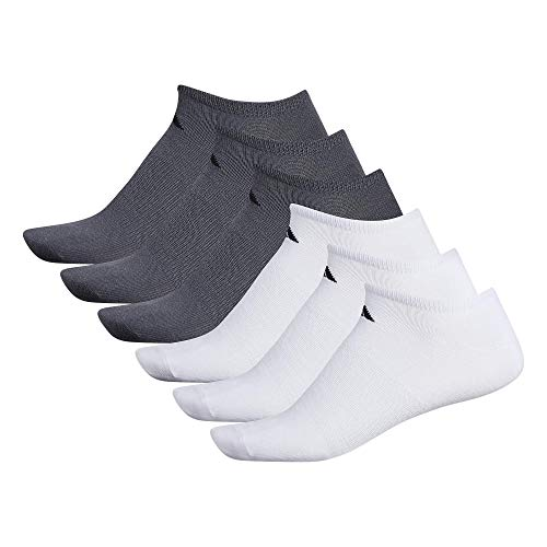 adidas Men's Superlite Low Cut Socks with arch compression (6-Pair),White/ Black Onix/ Black,Large, (Shoe Size 6-12)