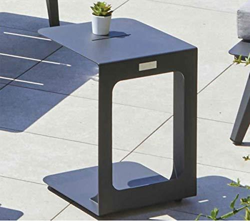 PEGANE Table d'appoint Salon de Jardin en Aluminium, Coloris Gris Anthracite - 35 x 38.5 x 45 cm