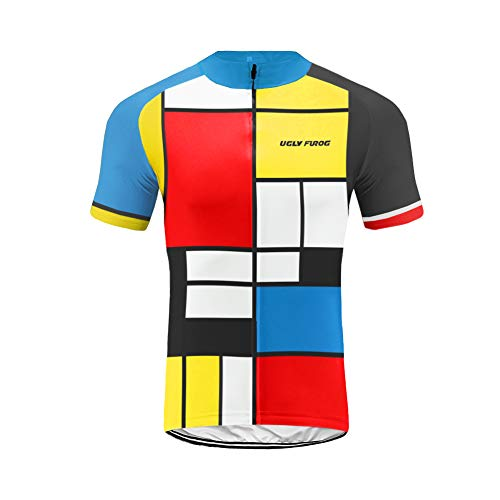 Uglyfrog Men's Cycling Jersey Men Mountain Bike Jerseys Short Sleeve Tops XS-4XL