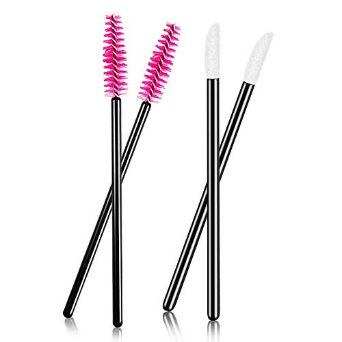 Scopri offerta per mreechan 100 pezzi monouso lip Gloss pennello und 100 pennelli da ciglia per mascara,Lo strumento trucco perfetto per l'applicazione di rossetti e ciglia