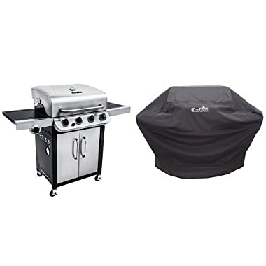 Char-Broil Performance 475 4-Burner Cabinet Gas Grill- Stainless + Cover