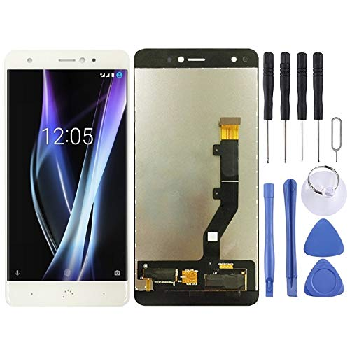 AFANG LCD Screen and Digitizer Full Assembly for BQ Aquaris X/X Pro (Black) (Color : White)
