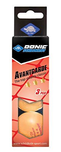 Donic Schildkröt 3-Stern Avantgarde Tischtennis-Ball, 3er Box, orange, One Size