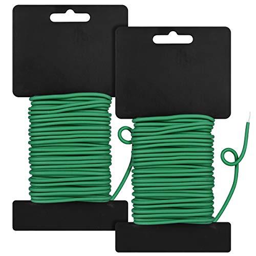 Beli 2PCS Reusable Garden Plant Twist Tie, Heavy Duty Soft Wire Tie For Gardening, Home, Office (Green, 52.5 Feet)