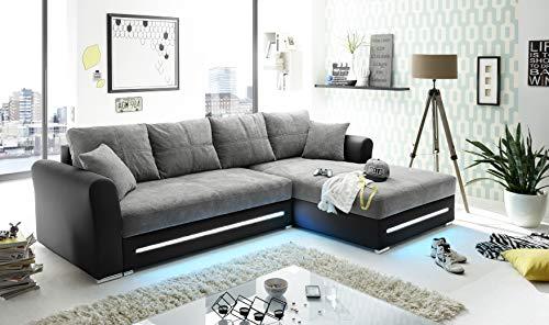 BEGA Ecksofa Couch inkl.LED Kent Designer