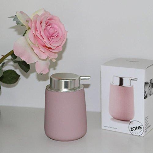 Zone Denmark, Nova Seifenspender/Seifenpumpe, Porzellan mit Soft Touch-Beschichtung, rosa