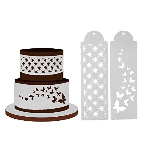 Everpert 2 teile/los Schmetterling Kuchen Schablone Kuchen Dekoration Kuchenform Fondant Schablone