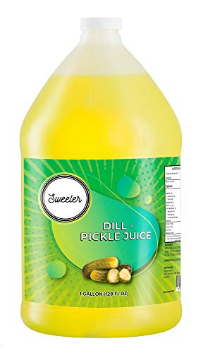 Sweeler, Dill Pickle Juice, For Leg and Muscle Cramps, 1 Gallon (128oz)
