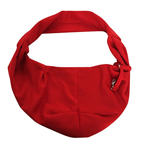 Tiger Mama Reversible Pet Sling Carrier for Pets Up to 12+ lbs (Red) 2
