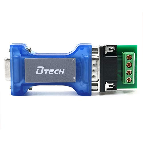 DTech RS232 to RS485 Converter Serial Communication Data Adapter with TX RX LED Indicators and Terminal Board
