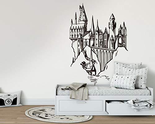 Kuarki | Hogwarts Schloss Wandtattoo | Harry Potter Wandaufkleber | Harry Potter | Film Inspiriert | Hohe Qualität | Zwei verfügbare Dimensionen (L)