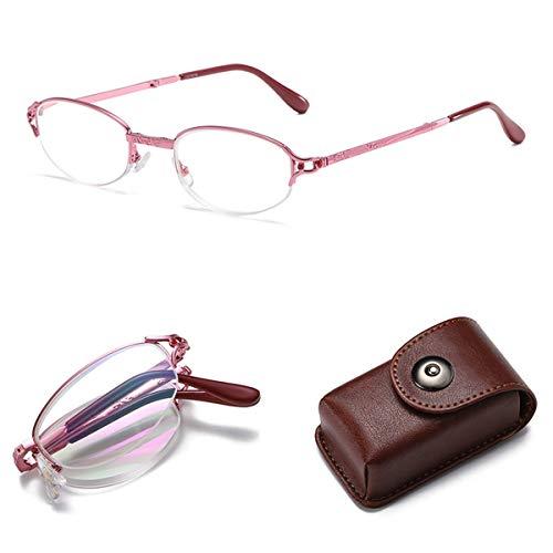 COSCANA Gafas De Lectura con Bloqueo De Luz Azul, Lentes Plegables Y Portátiles, Lectores De Computadora para Hombres Y Mujeres3.5 x