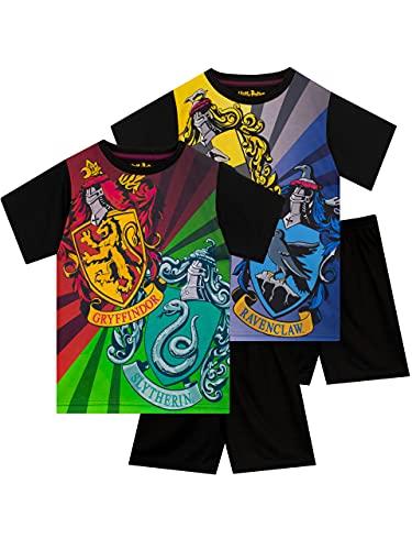 HARRY POTTER Pijamas de Manga Corta para niños 2 Paquetes Multicolor 8-9 Años