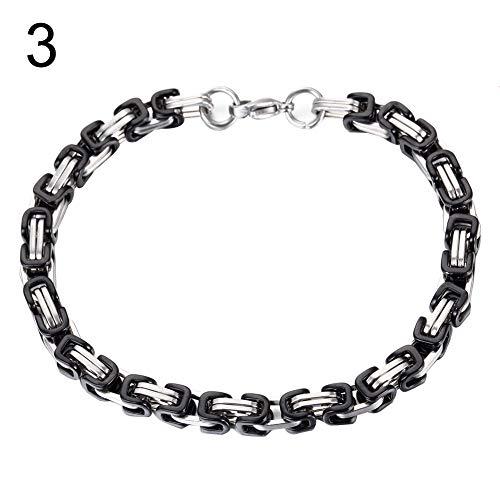 XQxiqi689sy Bracelet - Elegante anillo para hombre, de acero inoxidable, para motorista, rocker, muñequera, cinturón, joyas regalo 3#