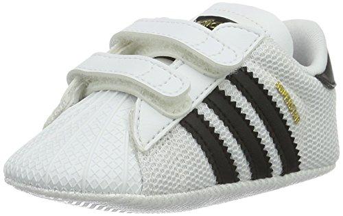 adidas Unisex Baby Superstar Crib Krabbel-& Hausschuhe, Weiß (Ftwbla/Negbas 000), 17 EU