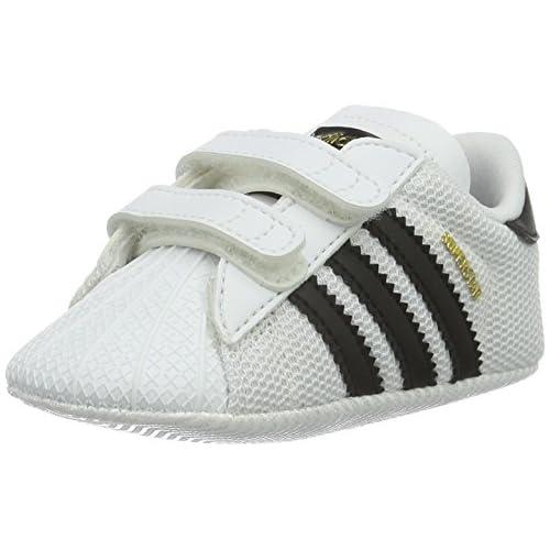 adidas Superstar, Scarpe Unisex-Bimbi 0-24, Bianco (Footwear White/Core Black/CloudWhite), 17 EU