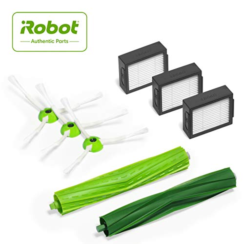 iRobot  Authentic Replacement Parts- Roomba e and i Series Replenishment Kit, (3 High-Efficiency Filters, 3 Edge-Sweeping Brushes, and 1 Set of Multi-Surface Rubber Brushes),Green - 4639168