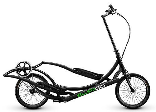 ElliptiGO 3C Long Stride Outdoor Elliptical Bike and Best Hybrid Indoor Exercise Trainer, Black