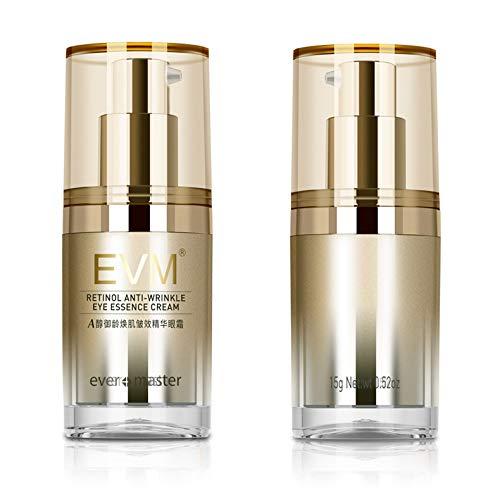 EVM Retinol Anti-Wrinkle Eye Essence Cream Ever Master Nourishing Toning Up Eye Cream Eye Essence SuperRepair Eye Cream Moisturizing Anti Aging Reduces Dark Circle & Puffiness Eye Serum 15g