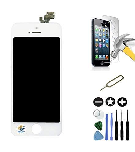 Mobilevie Pantalla LCD Retina + Pantalla Táctil En Chasis No iPhone Completa - Blanco, iPhone 5