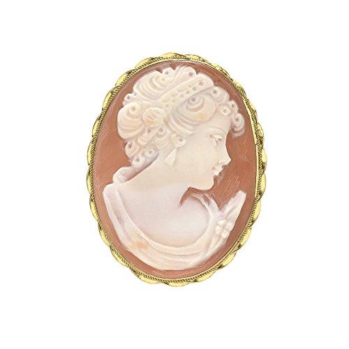 Carissima Gold Damen Brosche 9 Karat (375) Gelbgold 1.72.0515