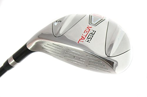 Founders Club Fresh Metal 3 Fairway Wood with Graphite Senior Shaft and Head Cover (15 Degrees, Senior)
