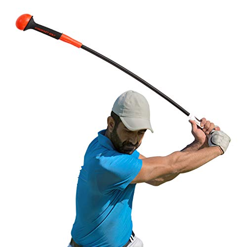 Rukket Golf Swing Trainer | Equipment & Training Aids for Tempo & Speed Practice | Flex Tool Whip Club | Weighted Warm Up Stick & Wrist Aid | Impact Power Weight | Plane Guide (48 inches.75lb Head)