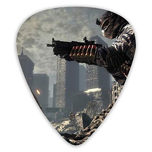 Call Of Duty Ghosts - Juego de 12 púas de guitarra de doble cara