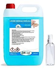Loción Hidroalcohólica para manos | EFICACIA CERTIFICADA POR LABORATORIO | 70% alcohol garantizado | Ecosoluciones Químicas ECO- 901 | 5 L
