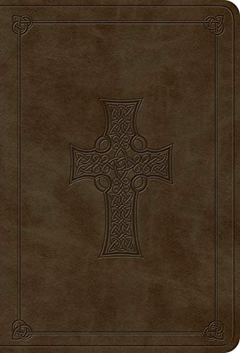 ESV Value Large Print Compact Bible (TruTone, Olive, Celtic Cross Design)